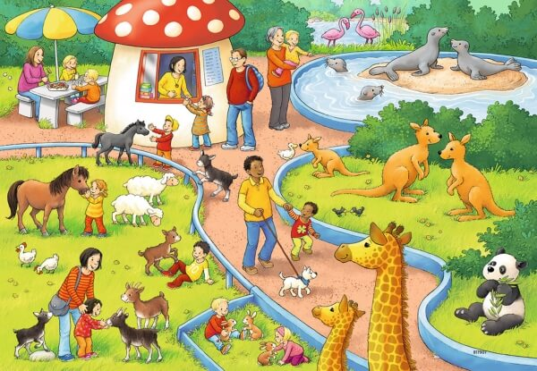 Ravensburger 078134 Puzzle Zoo 2x24 Teile Puzzles & Geduldspiele
