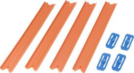 Mattel Hot Wheel Orange Track, 4er-Pack