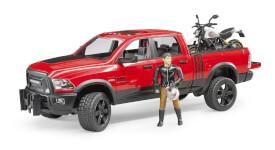 Bruder Ram 2500 Power Wagon mit Scrambler Ducati, ab 1-14 Jahren, Maße: 74,9 x 19 x 21,6 cm, Kunststoff