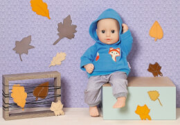 Zapf Dolly Moda Sport-Outfit Blau, Gr. 36cm