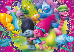 Clementoni Puzzle Dreamworks Trolls - A frown is a smile up side 60 Teile