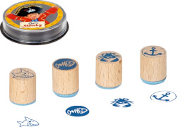 Holzstempel-Set Capt'n Sharky