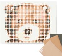 dot on art - DIY-Klebeposter, Bastelset, Stickerset - Motiv:  Teddy, 30x40 cm